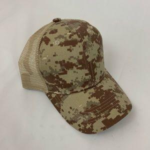 Big Bear Pixel Camo Hat Snapback Mesh Back Cap New